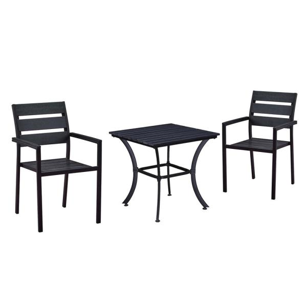 3 Piece Metal Square Outdoor Dining Set