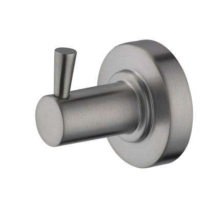 Contemporary Robe Hook in Brushed Nickel