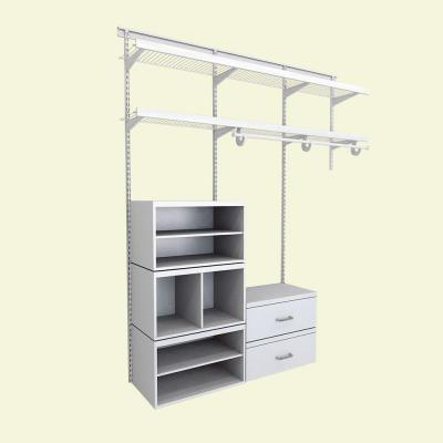 Perfect ClosetMaid Elite 96 In. H X 72 In. W X 14.1 In. D 35 Piece Wire And  Laminate Closet System In White