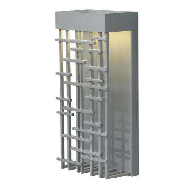 1-Light Silver Outdoor Pier 60 LED Wall Light