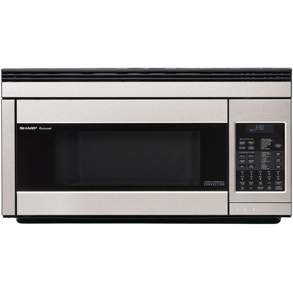 Sharp Refurbished 1.1 cu. ft. Over the Range Convection Microwave in Stainless Steel with Sensor Cooking-DISCONTINUED