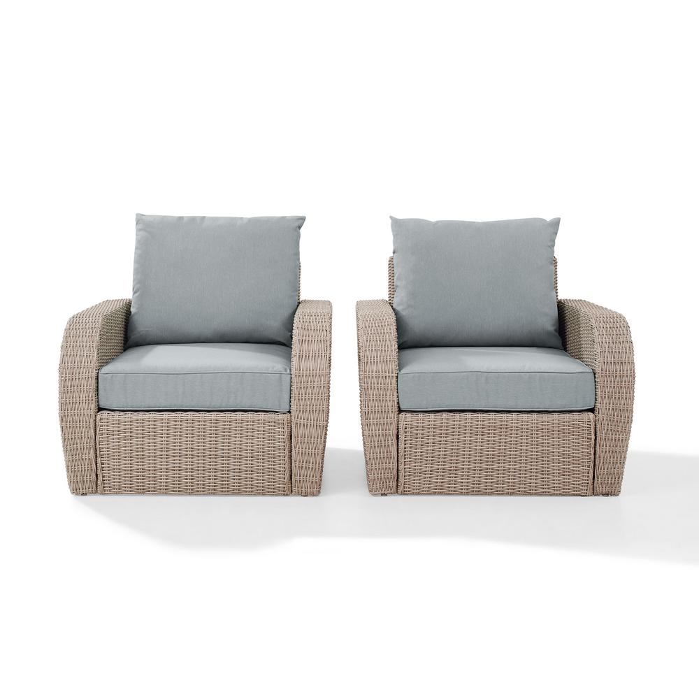 Crosley St Augustine 2-Piece Wicker Patio Outdoor Seating Set with Mist Cushion - 2 Wicker Outdoor Chairs was $601.77 now $471.77 (22.0% off)
