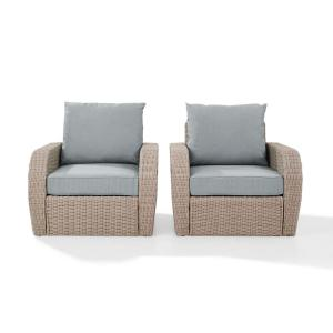 Admirable Crosley St Augustine 3 Piece Wicker Patio Outdoor Seating Short Links Chair Design For Home Short Linksinfo