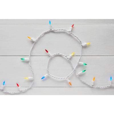 29.5 ft. 100-Light LED Mini Multi-Color String Light with White Wire