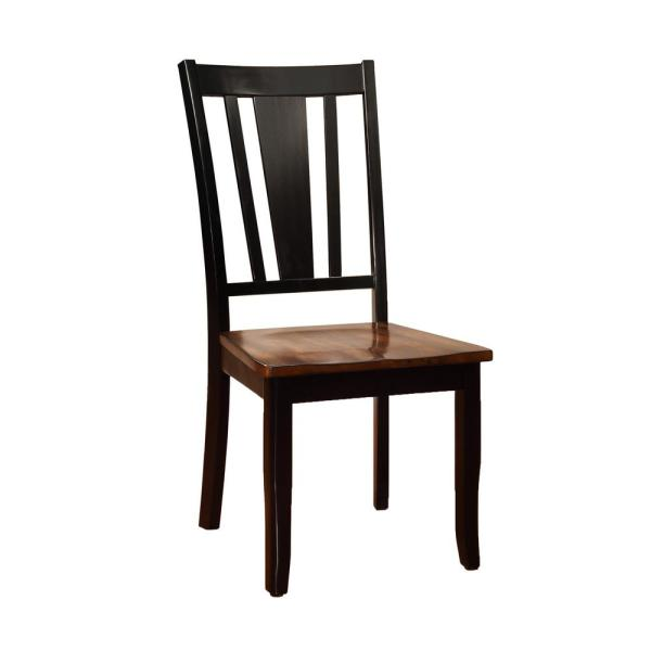 Furniture Of America Lanius Black Cherry Solid Wood Slat Back Dining Side Chair Set Of 2 Idf 3326bc Sc The Home Depot