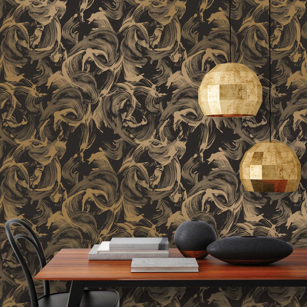 Tempaper Wallpaper: Tempaper Multicolored Repurposed Wood Wallpaper-RE502