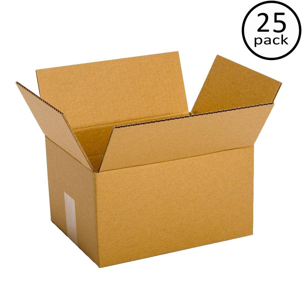 Plain Brown Box 11-3/4 in. x 8-3/4 in. x 4-3/4 in. 10-Box Bundle