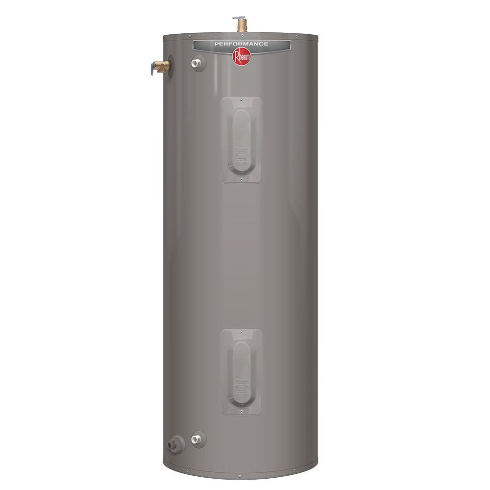 Rheem Performance 40 Gal. Tall 6 Year 4500/4500-Watt Elements ...
