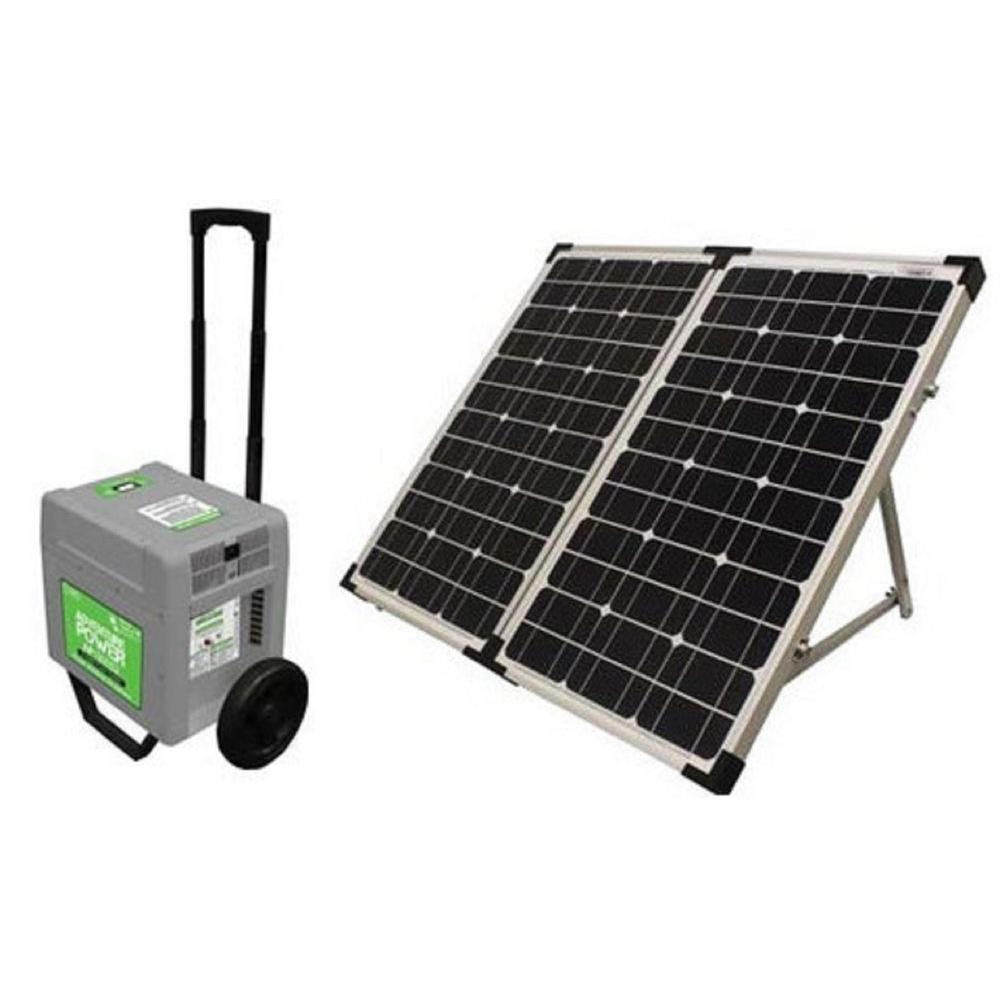 UPG AP1800S2 1800-Watt 120VAC Portable Power System with 80-Watt Solar Panel