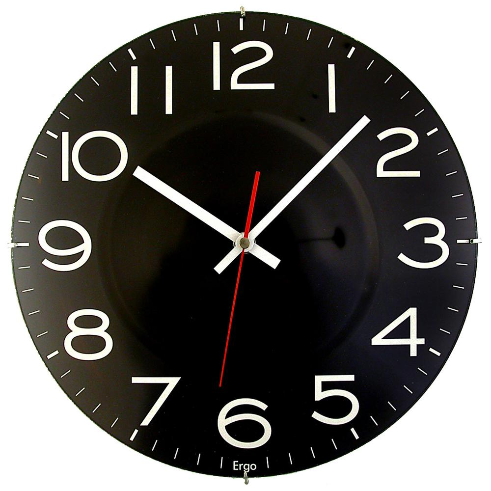 Timekeeper Products 11-1/2 in. Black Wall Clock with Quartz Movement