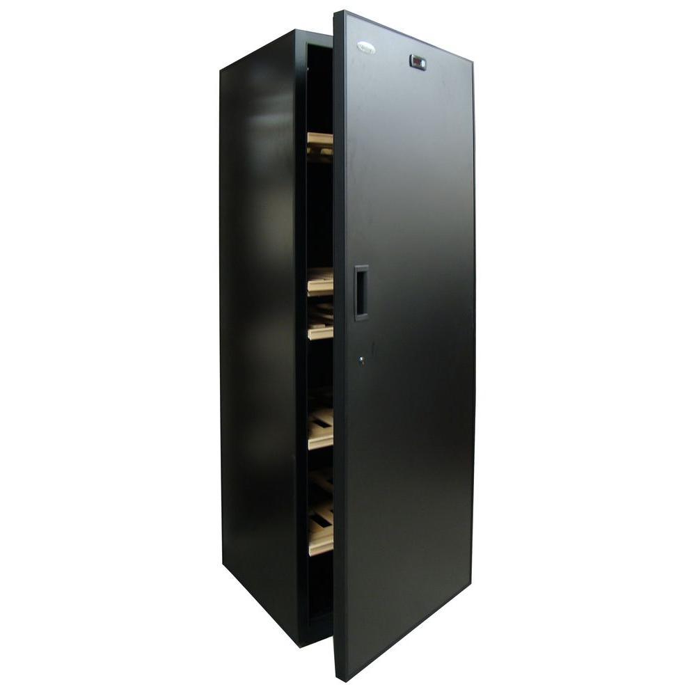 Vinotemp VinoCellier 267 Bottle Black Solid Door Wine Cabinet