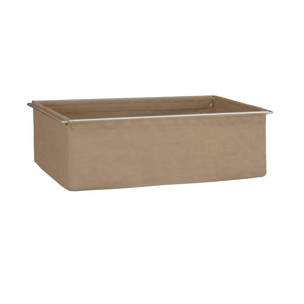 Closetmaid ShelfTrack 7 in. H Mocha (Brown) Fabric Drawer...