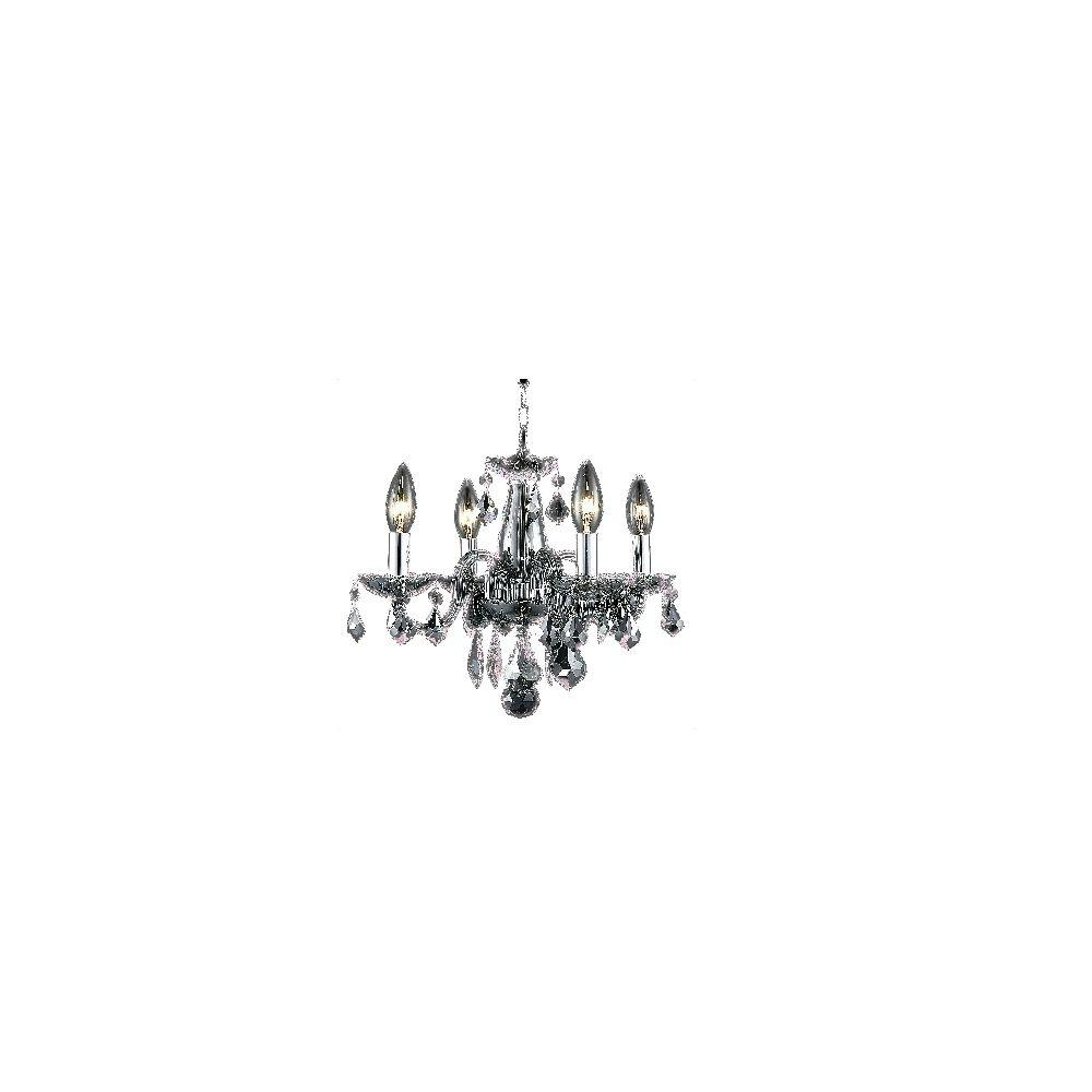 Goldenage USA 4-Light Crystal Chandelier in Silver Shade Finish-DISCONTINUED