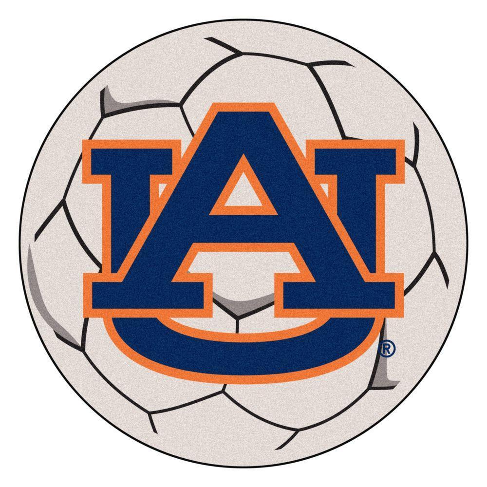 Fanmats Ncaa Auburn University Au Logo Cream 2 Ft X Round Area