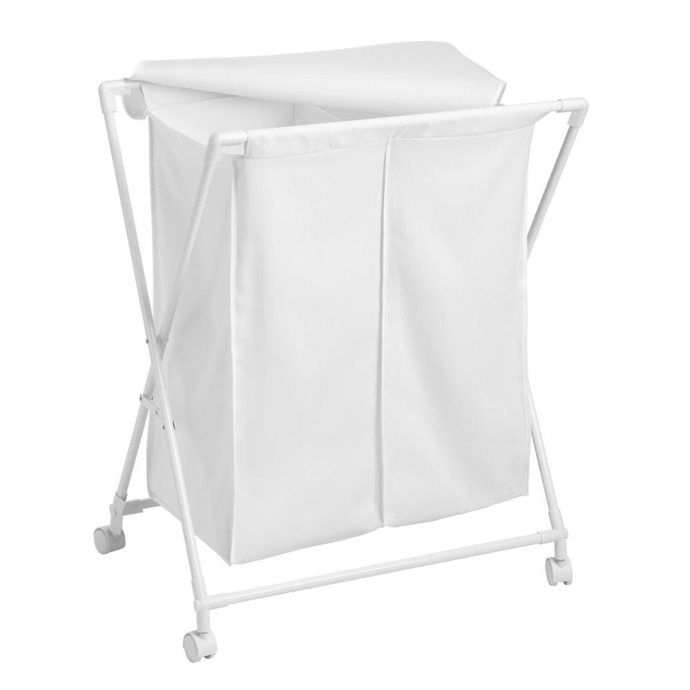 Honey Can Do Double Folding Hamper Hmp 01386 The Home Depot