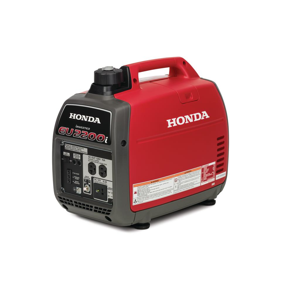 Honda 2,200-Watt Super Quiet Gasoline Powered Portable Inverter Generator  with Eco-Throttle and Oil Alert