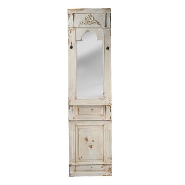 Oversized Rectangle White Mirror (76.2 in. H x 19.7 in. W)