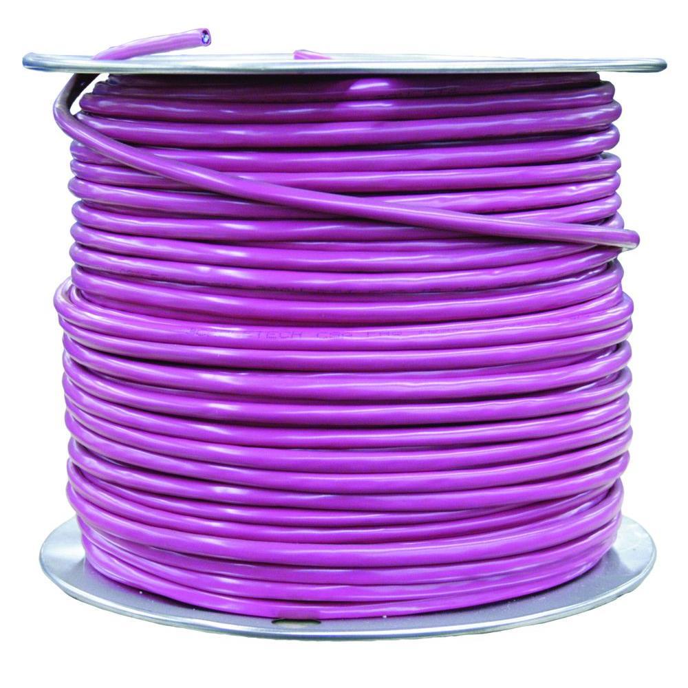 500 ft. 18/4 Purple Solid CU Unshielded FPLR Alarm Cable