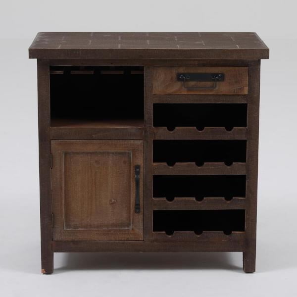 Winsome House 12-Bottle Natural Wine Station Console Cabinet