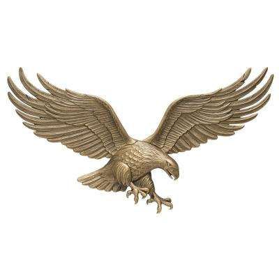 36 in. Antique Brass Wall Eagle