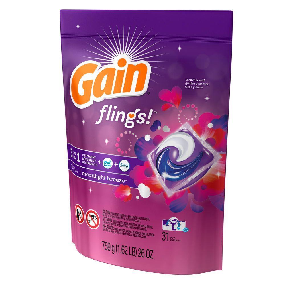 Flings Moonlight Breeze Scent Unit Dose Laundry Detergent (31 Load)