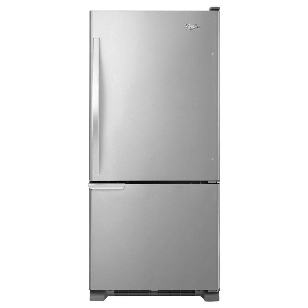 Whirlpool 18.7 cu. ft. Bottom Freezer Refrigerator in Stainless Steel