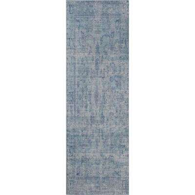 Ambrosia Presence Blue 4 ft. 0 in. x 6 ft. 0 in. Rectangular Area Rug