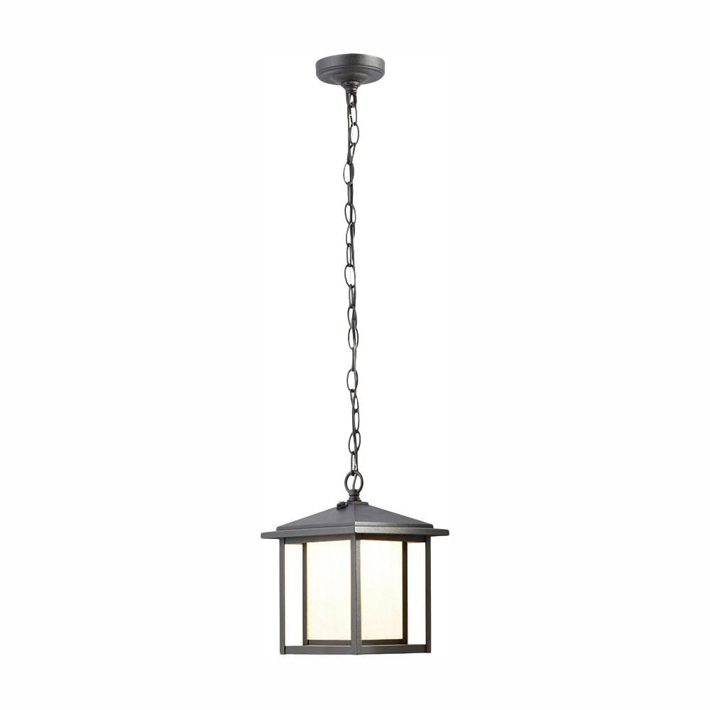 Home Decorators Collection Black Outdoor Dusk to Dawn Hanging Lantern