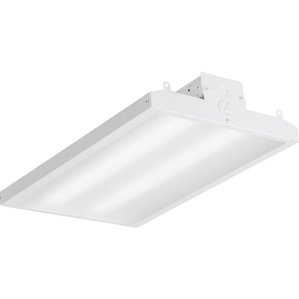 Lithonia Lighting 4 Ft 40 Watt White Integrated Led: Lithonia Lighting IBE 166-Watt Matte White Integrated LED