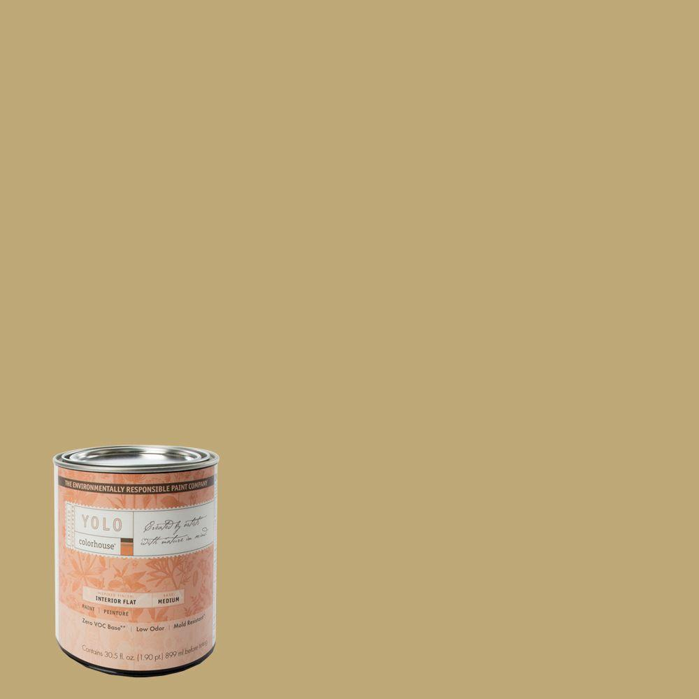 YOLO Colorhouse 1-Qt. Stone .02 Flat Interior Paint-DISCONTINUED