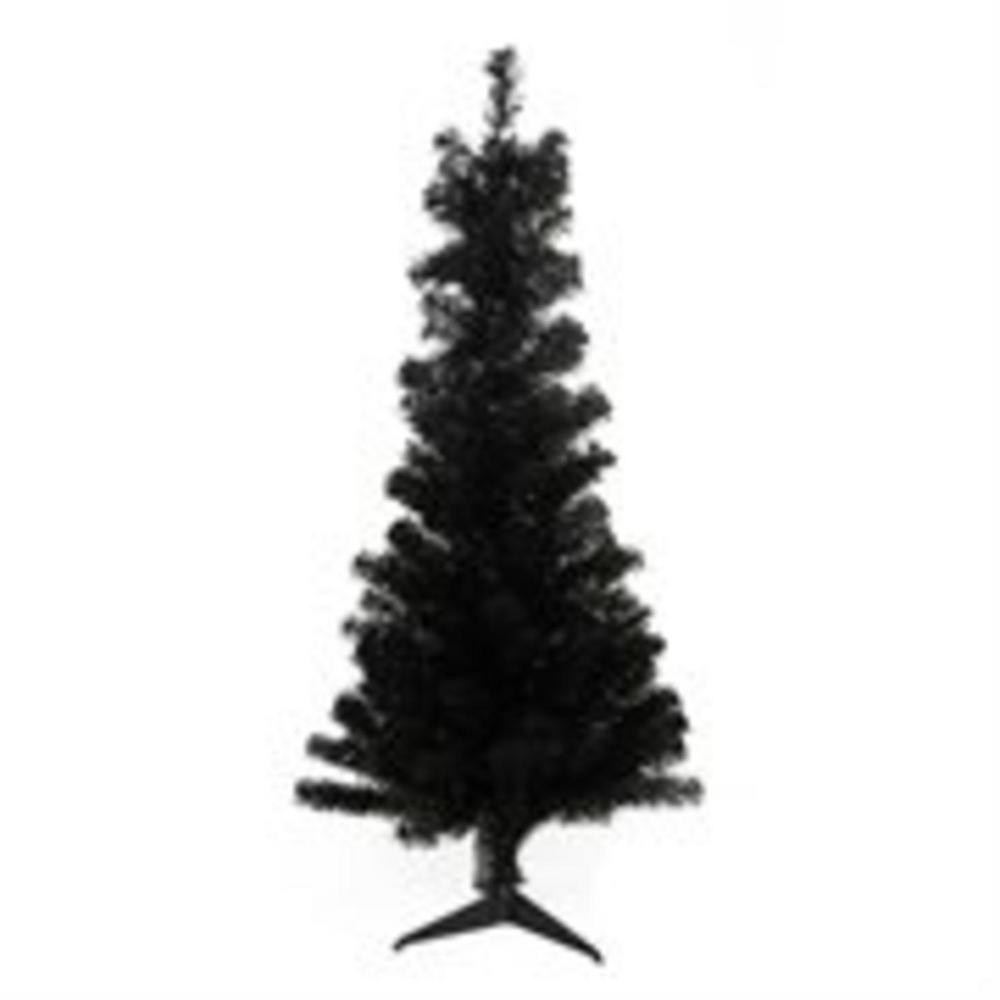 Northlight 4 ft. x 24 in. Slim Black Tinsel Artificial Christmas Tree Unlit