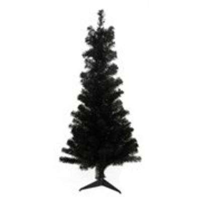 4 ft. x 24 in. Slim Black Tinsel Artificial Christmas Tree Unlit