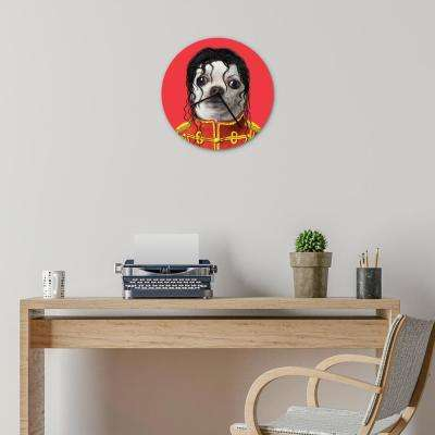 "16 in. Pets Rock ""Pop"" Glass Wall Clock"