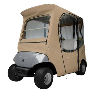 Classic Accessories FadeSafe Drive by Yamaha Khaki Golf Car Enclosure by Classic Accessories