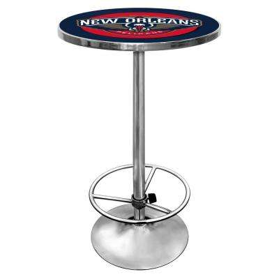 NBA New Orleans Pelicans Chrome Pub/Bar Table