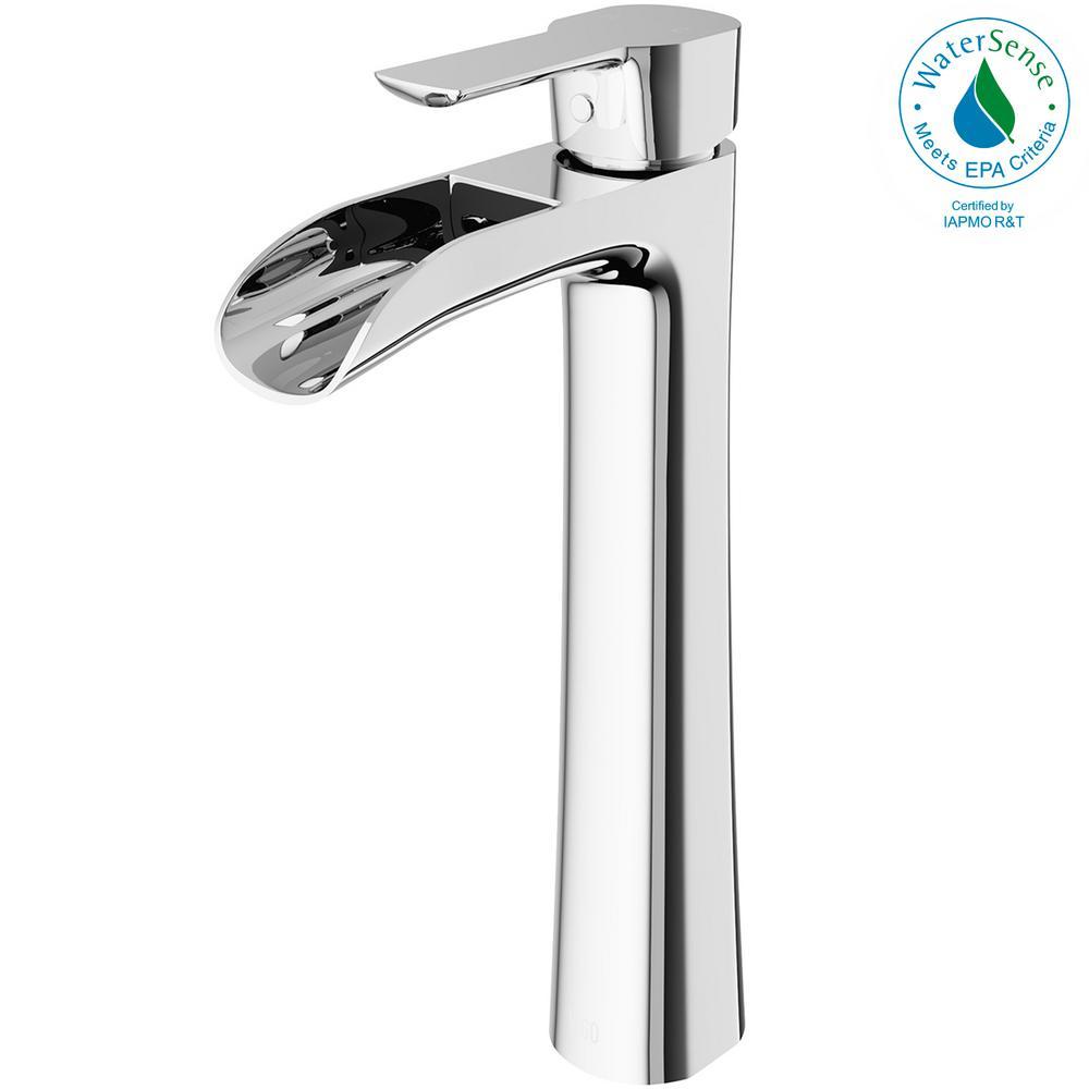 Niko Single Hole Single-Handle Vessel Bathroom Faucet in Chrome