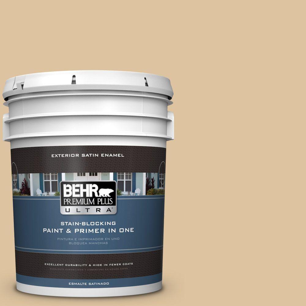 BEHR Premium Plus Ultra 5-gal. #S300-3 Almond Cookie Satin Enamel Exterior Paint