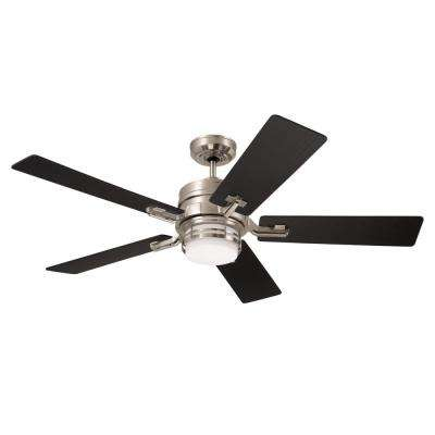 Amhurst 54 in. Brushed Steel Ceiling Fan