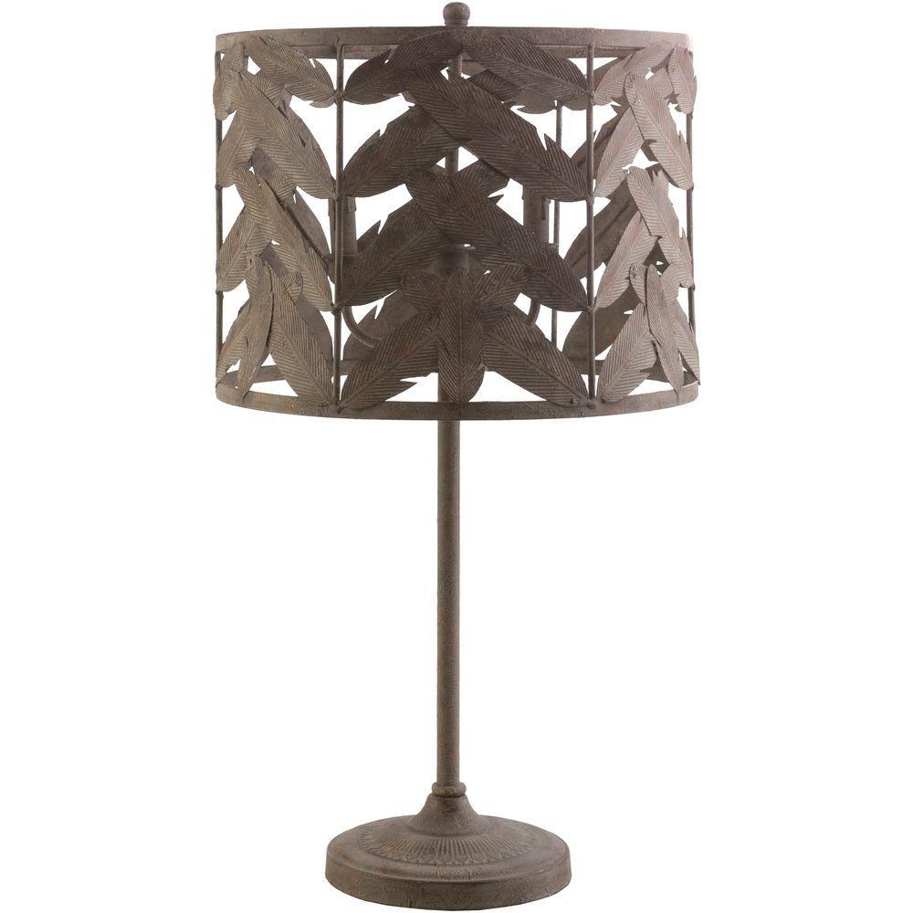 Edeline 30.5 in. Brown Indoor Table Lamp