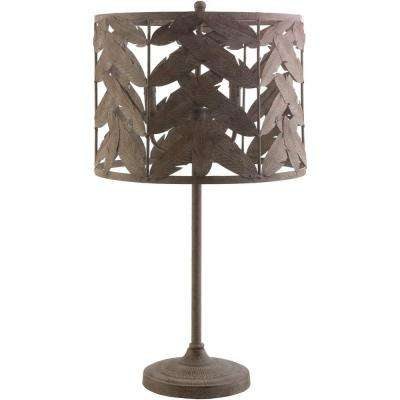 Edeline 30.5 in. Brown Indoor Table Lamp