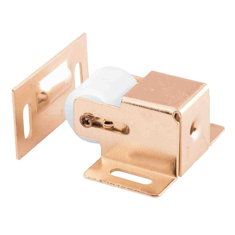 Prime Line Br Plated Closet Door Roller Catch With Strike