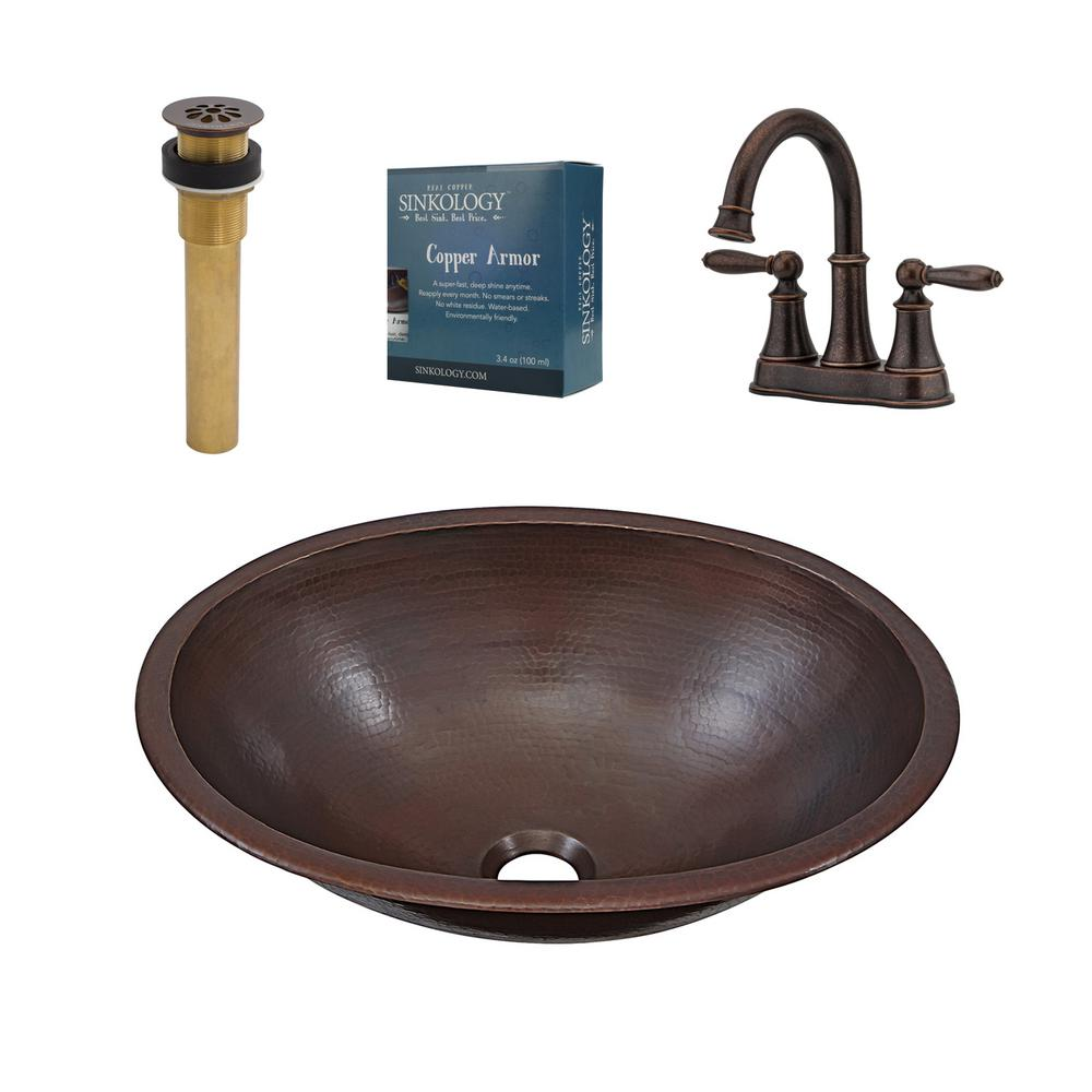 SINKOLOGY Schrodinger All-In-One Copper Bathroom Sink Design Kit ...