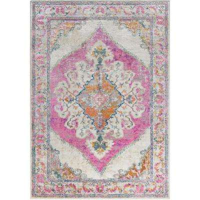 Marrakesh Bright Pink 7 ft. 10 in. x 10 ft. 3 in. Indoor Area Rug