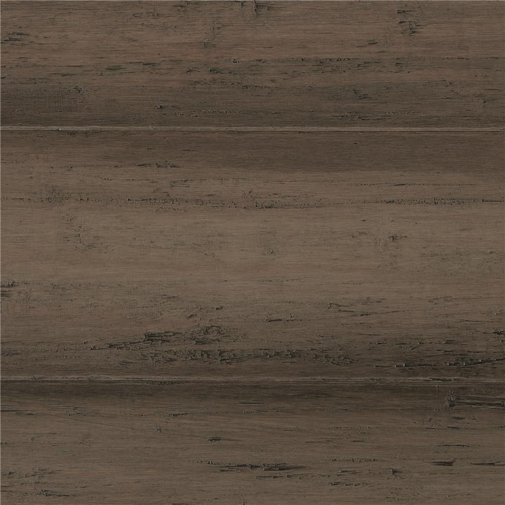 Delightful Home Decorators Collection Take Home Sample   Hand Scraped Strand Woven  Warm Grey Click Bamboo Flooring