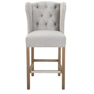 Madelyn 41 in. Stone Wash Cushioned Counter Stool