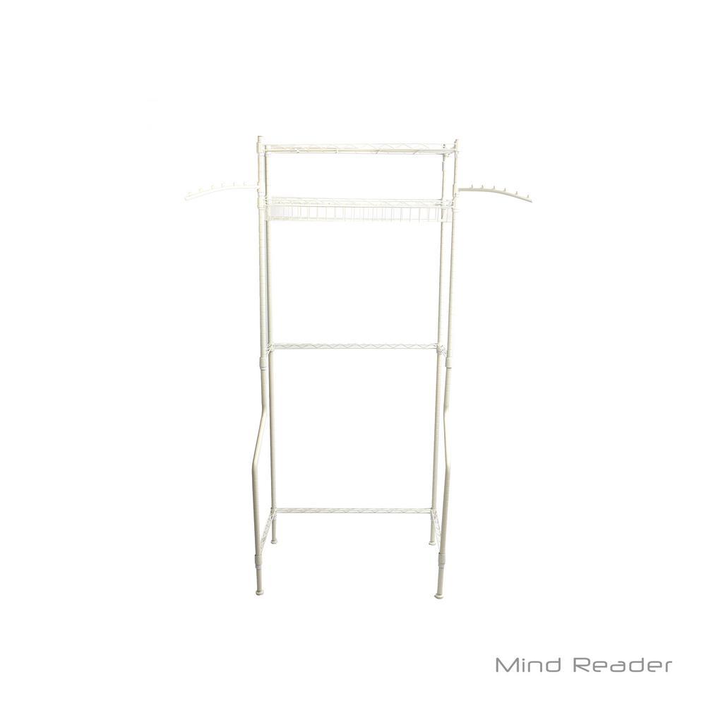 Mind Reader Laundry Utility Washing Machine Shelf/Rack with Extention