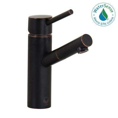 Shadow Single Hole 1-Handle Vessel Bathroom Faucet in Antique Rubbed Bronze with Pop-Up Drain