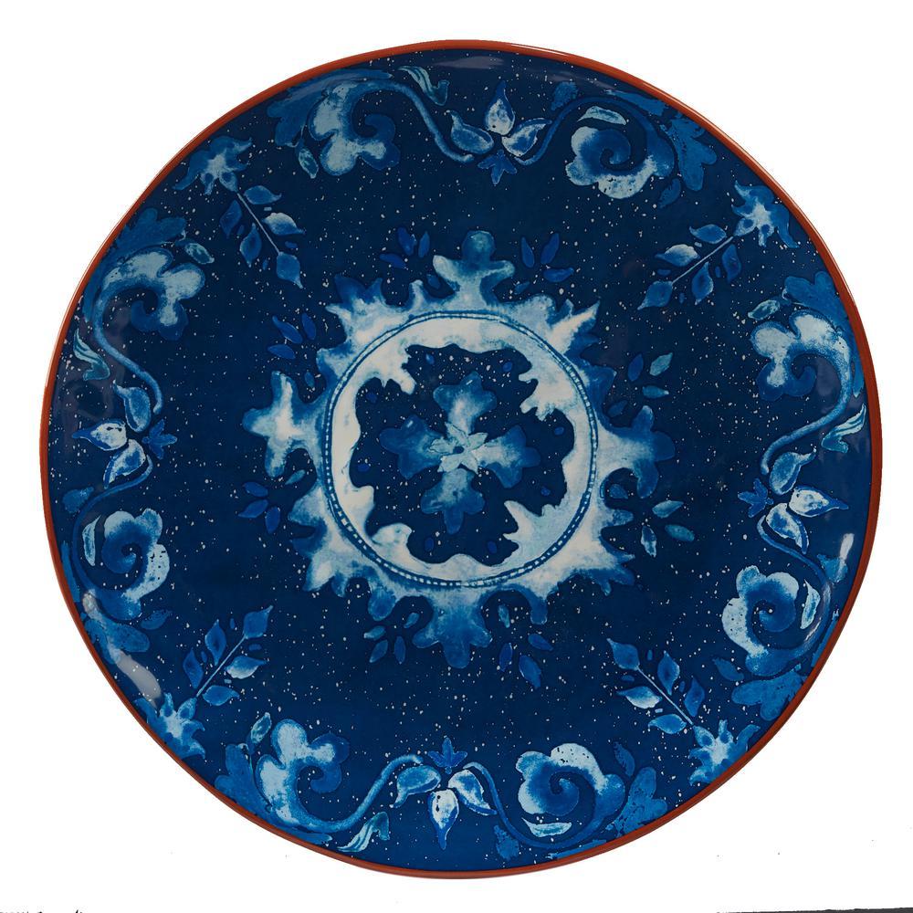 Porto Multi-Colored 13 in. Ceramic Round Platter