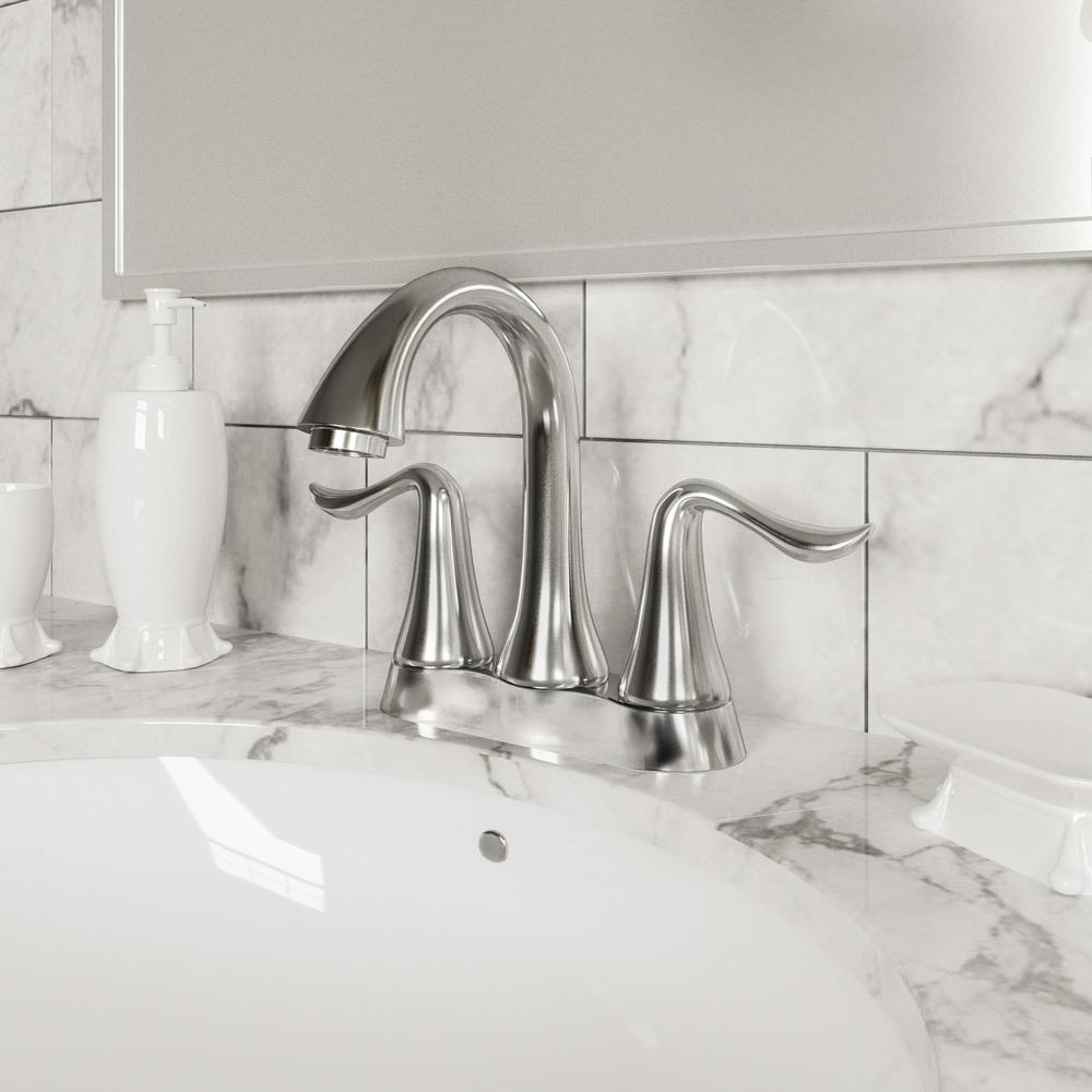Design house geneva 4 in centerset 2 handle bathroom faucet in polished chrome 525766 the - Decorative bathroom faucets ...