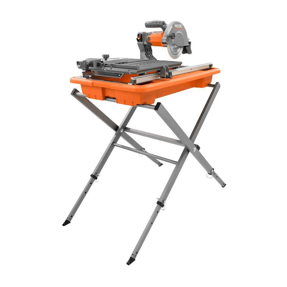 RIDGID 7 in. Tile Saw with Stand-R4030S - The Home Depot